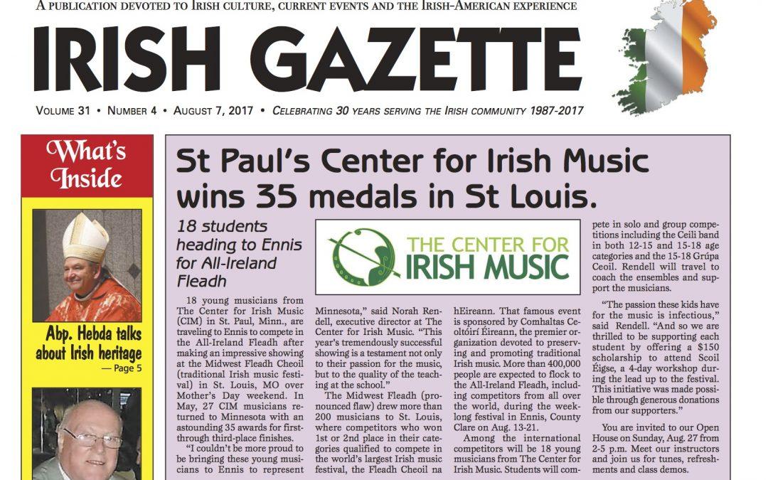 Irish Gazette Features CIM